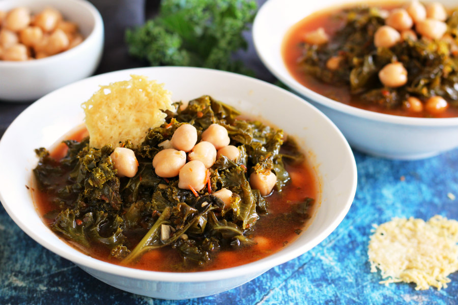 Tuscan Kale and Chickpea Soup