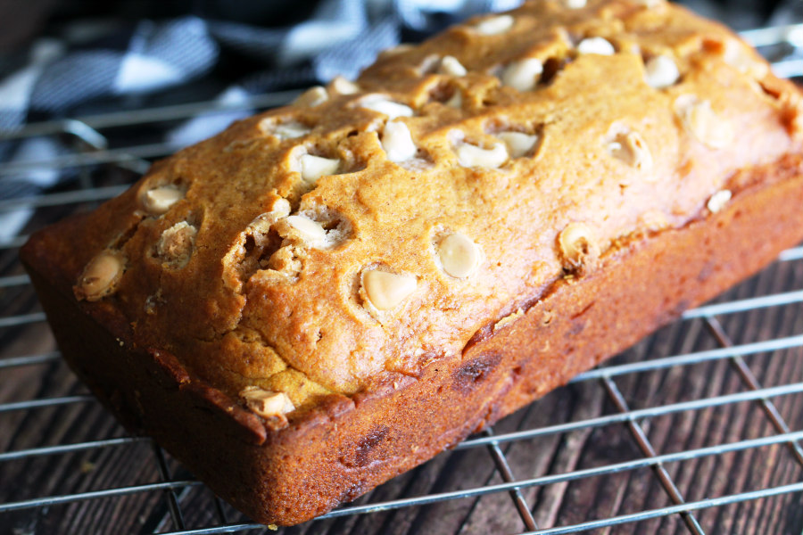 Pumpkin White Chocolate Chip Bread