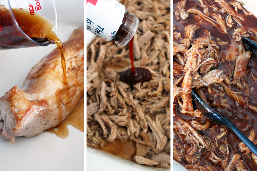 Easy Three Ingredient Slow Cooker Pulled Pork Loin