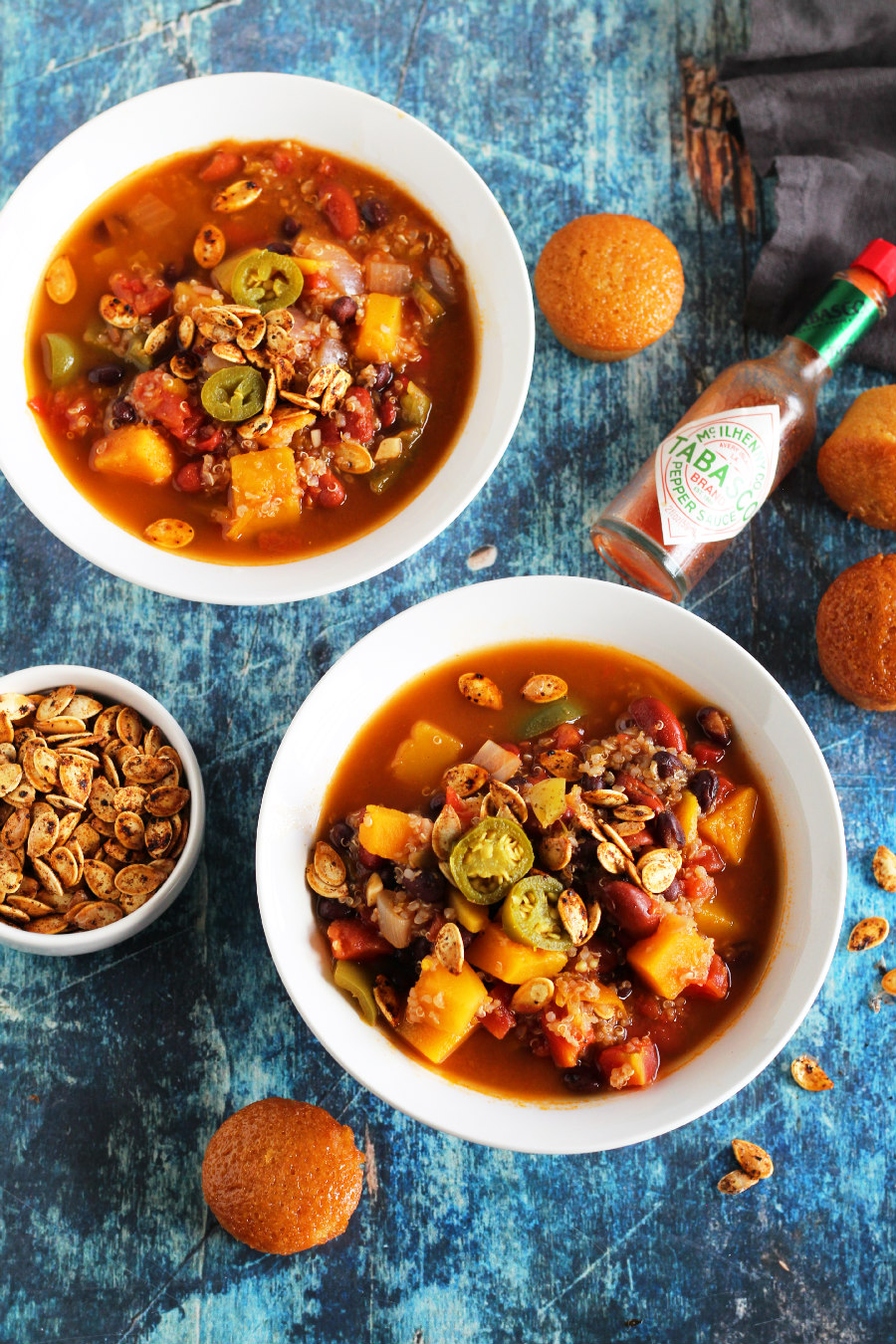 vegan butternut squash and quinoa chili