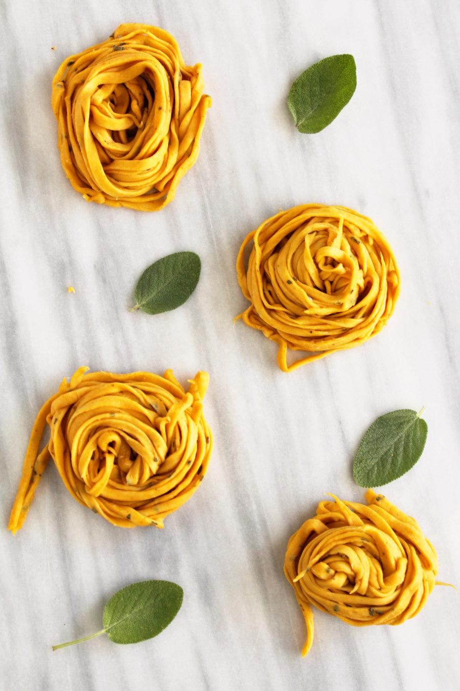 fresh pumpkin sage pasta