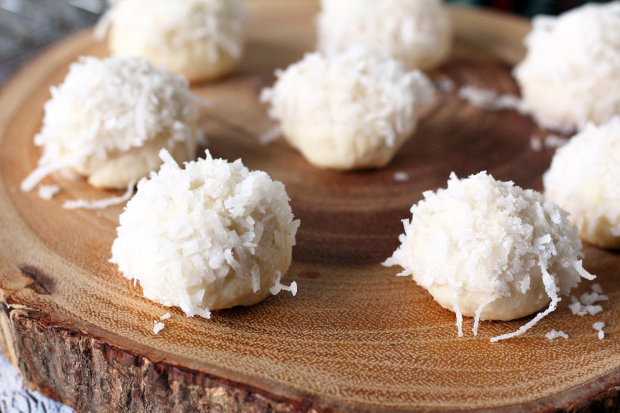 Lemon Coconut Snowball Cookies