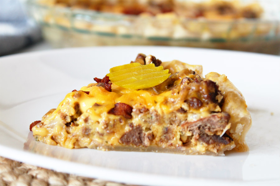 Easy Cheesy Bacon Cheeseburger Pie