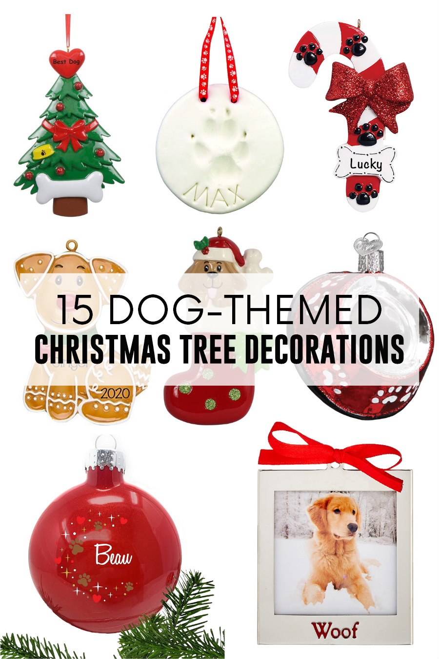 dog themed christmas tree decorations