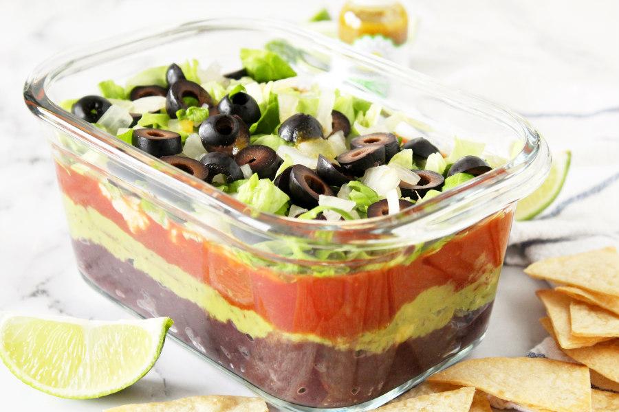 Vegan Layered Black Bean Dip