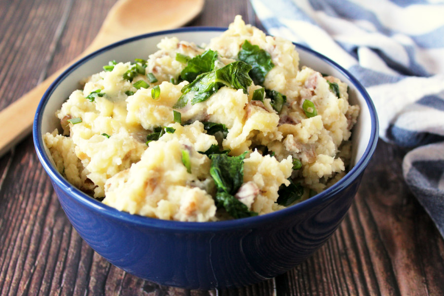 Vegan Colcannon with Kale and Sour Cream