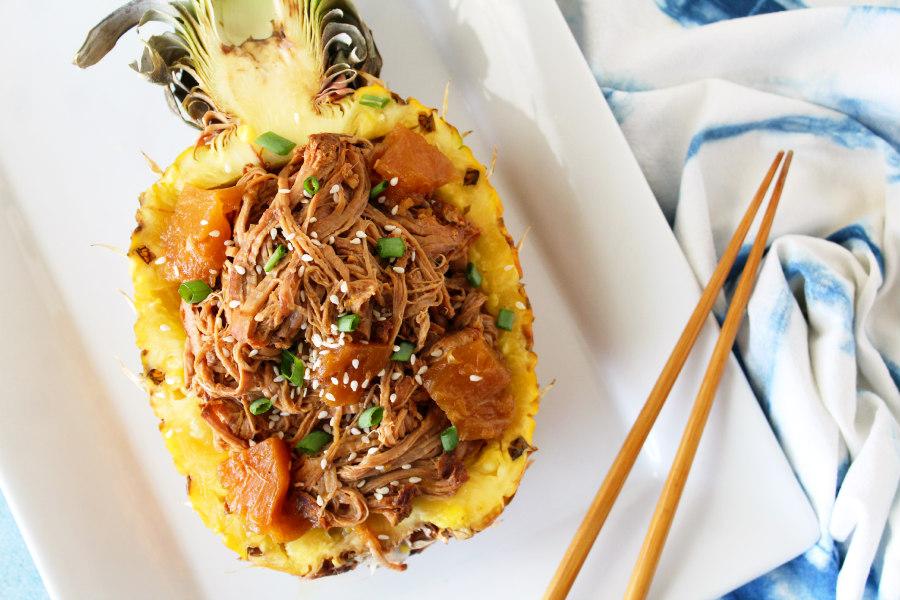 Slow Cooker Pineapple Teriyaki Pork Tenderloin